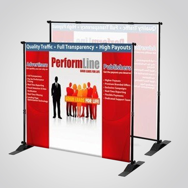 Backdrop stand telescopic red line wholesale printing for Red line printing